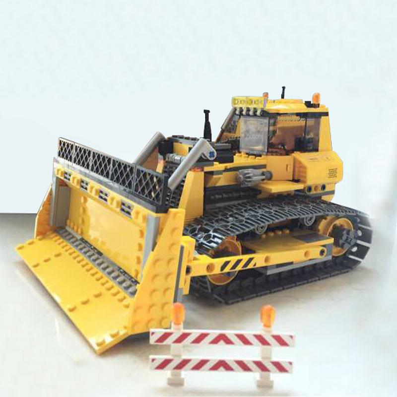 купить LEPIN 02074 Technic Series Dozer Bulldozer 394Pcs Building Block Set Compatible Brick Kit Boy Child Educational Classic Toy Gift недорого