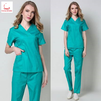 Stretch slim hand washing clothes short sleeve pure cotton suit for men and women doctors to wear during surgery in Scrub Sets from Novelty Special Use