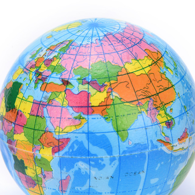 Online shop 1pcs hot sale world map foam earth globe hand wrist 1pcs hot sale world map foam earth globe hand wrist exercise stress relief squeeze soft foam ball toy wholesale gumiabroncs Gallery