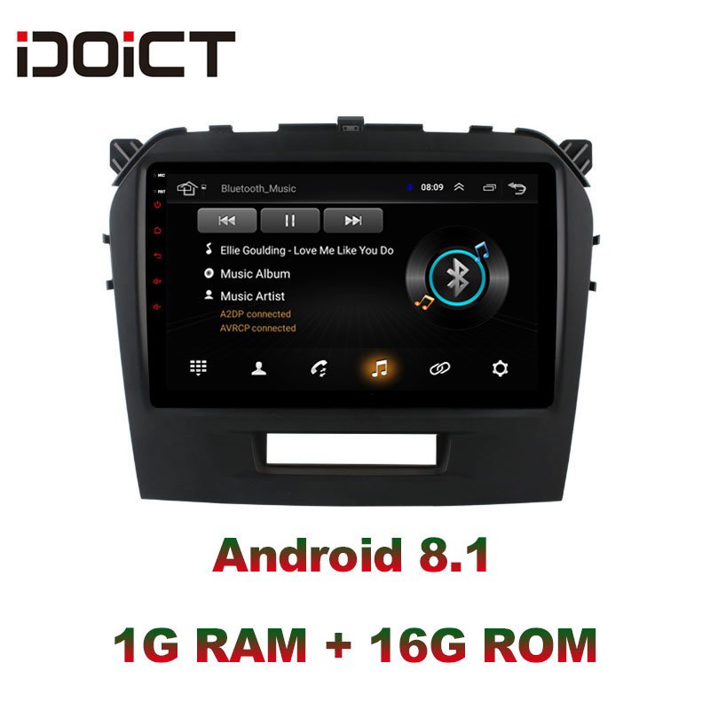 IDOICT  Android 8.1 Car DVD Player GPS Navigation Multimedia For Suzuki Vitara radio 2015-2016 car stereo wifi bluetoothIDOICT  Android 8.1 Car DVD Player GPS Navigation Multimedia For Suzuki Vitara radio 2015-2016 car stereo wifi bluetooth