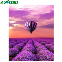 AZQSD Diamond Painting Full Square Embroidery Scenery Mosaic Landscape Diy 5d Needlework Home Decoration
