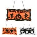 New Halloween Pumpkin Witch Skull Door Window Decor Hanging Party Hanger Props