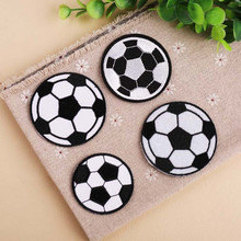 DOUBLEHEE 4 pcs Black White Ball Patch Embroidered Patches For Clothing Iron On Close Shoes Bags Badges Embroidery