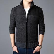 2020 nouvelle marque de mode chandail pour hommes Kardigan fermeture éclair coupe mince pulls tricots épais automne Style coréen décontracté hommes vêtements
