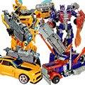 Venda quente 20 cm Robô Robôs de Transformação Bumblebee modelo de Carro Menino Presentes Figura de Ação Brinquedos Clássico Para Crianças modelo de Carro