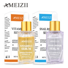 Ameizii Vitamin C Snail Repair Serum Whitening Anti Wrinkle Aging Hyaluronic Acid Brighten Firming Skin Rejuvenation