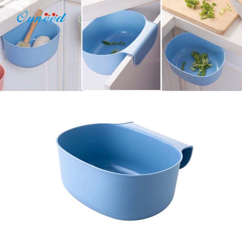 Ouneed 1PC virtuves piekārtiem miskastes plauktiem Vides kabineta durvju atvilktņu uzglabāšana Atkritumu kastes zaļš, rozā, zils