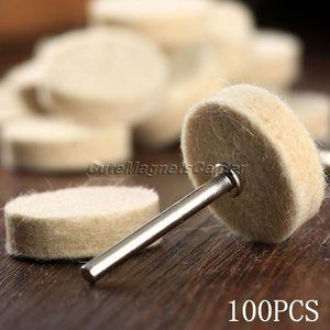 Image 5 - Accesorios Dremel, 100 Uds., 25mm, almohadilla de pulido para pulido de ruedas de fieltro de lana + 4 Uds. De vástagos de 3,2mm para herramienta rotativa Dremel