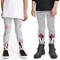 Niños Niñas de algodón Ropa CottonTrousers Pantalones Chicas Minnie Leggings Otoño de La Muchacha Niños Pantalones Age 2-6Y