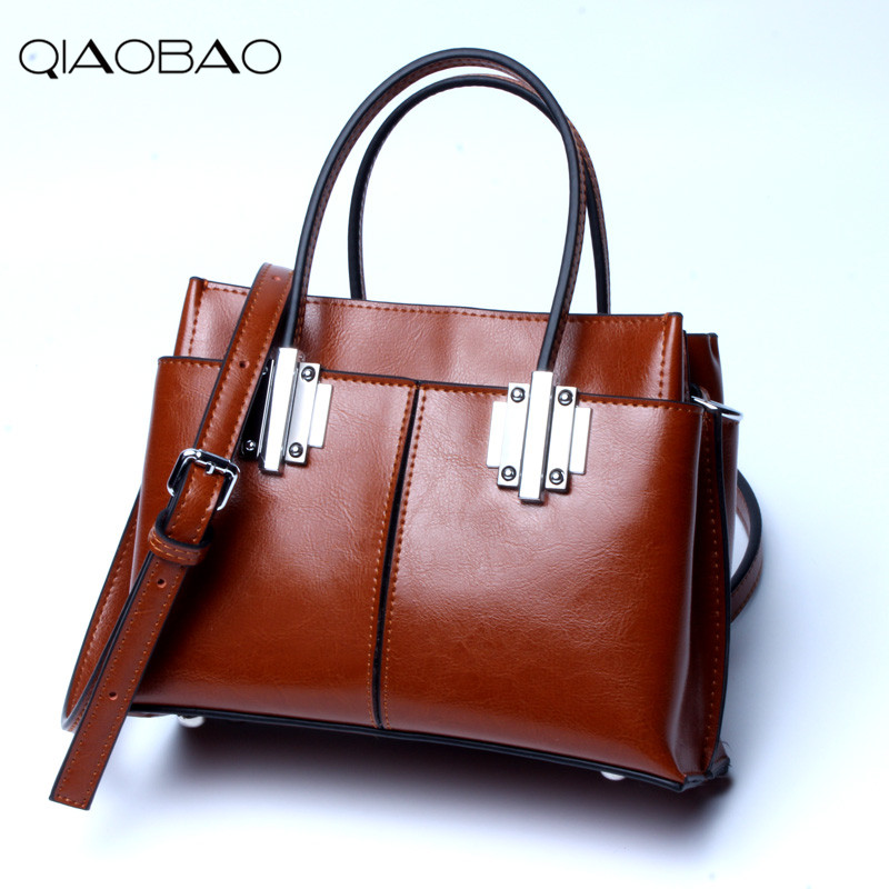 QIAOBAO 100% Genuine Leather Bags shoulder Messenger bag Famous Brand bag fashion cowhide leather bag shopping totes luxury genuine leather bag fashion brand designer women handbag cowhide leather shoulder composite bag casual totes