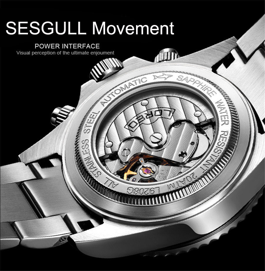 Waterproof 200M Automatic Mechanical Men Watch Luxury Brand Business Wrist Watches Men Clock Hour Time Relogio Masculino NEW