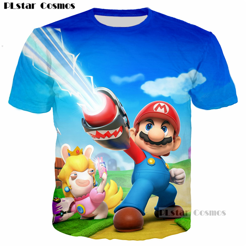 PLstar Cosmos Classic Cartoon Game Super Mario Bros T-Shirt 3D print Cute tee tshirt Women Men t shirt Boys Clothes tops hip hop