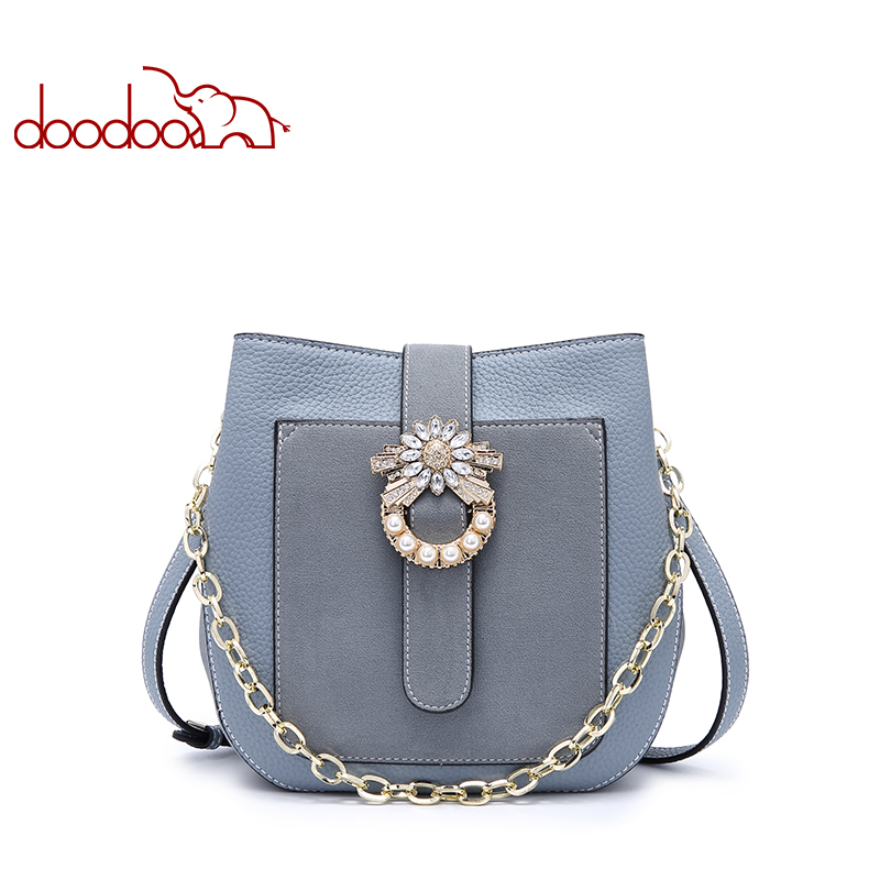 DOODOO Hot Sale Women Bag Fashion PU Leather Women's Handbags Bucket Bag Female Shoulder Messenger Bags Ladies Crossbody Bags