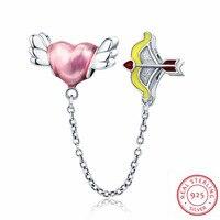2018 En Gros 100% 925 En Argent Sterling Charme Souhait de L'amour Charme Fit Original Bracelet Perle Diy Bijoux