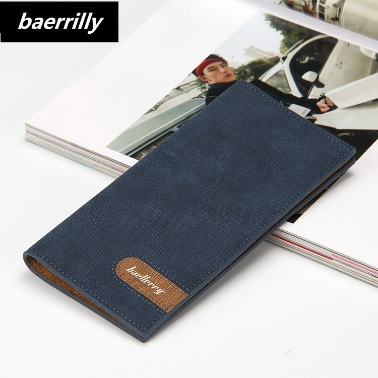 retro cross pattern men long wallet vintage PU Leather Bifold male Purse Long 0.8 Ultra thin slim student card coin purse clutch