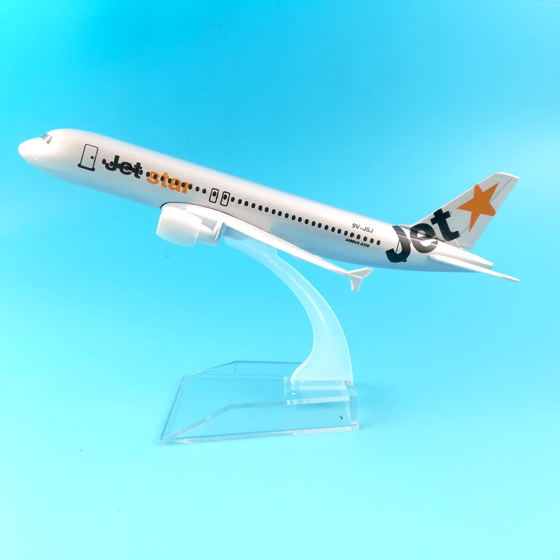 FREE SHIPPING 16CM A320JETSTAR AIRWAYS  METAL ALLOY MODEL PLANE AIRCRAFT MODEL  TOY AIRPLANE BIRTHDAY GIFT