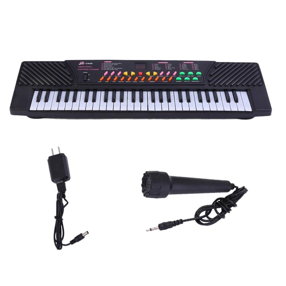 Orgue électronique 54 touches clavier numérique pour enfants musique Piano pour adultes ou enfants débutants électronique avec micro orgue US Pl