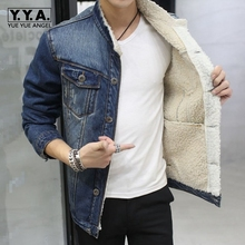 YueYueAngel Men Casual Jacket Male Long Sleeve Single Breasted Short Korean Style