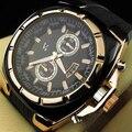 V6 Nuevo Reloj 2016 Nuevos Hombres de Moda Casual Relojes de Pulsera de Lujo de Plata de Oro F1 Correa de Caucho Reloj Deportivo relogio masculino