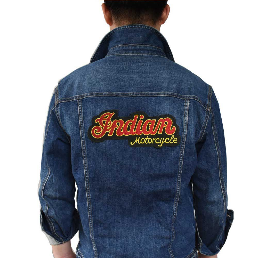 Indian motor Patch Iron On PatchEmbroidered Applique Sewing Label punk biker Patches Clothes Stickers Apparel Accessories Badge