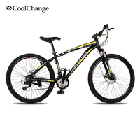 CoolChange Cross Country Double Disc Brake Bike Road Bicycles Aluminium Alloy 21 Speed ZXC26 Inch Mountain