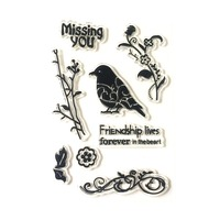 Friendship Lives Clear Silicone Rubber Stamp for DIY Scrapbooking/photo Album Decorative Craft Clear Stamp Chapter.
