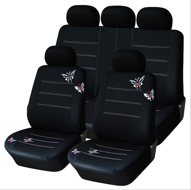 Butterfly Embroidered font b Car b font Seat Cover Universal Fit Most Vehicles Seats font b