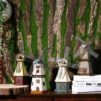 American Retro Netherlands Windmill Model coffee shops TV ark wine cabine ornament crafts Decoration