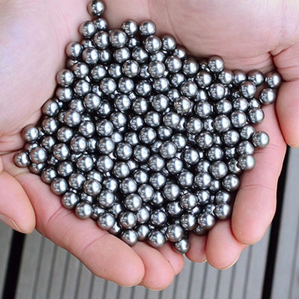 120pcs/Lot 6mm 7mm 8mm Slingshot Ammo Outdoor Hunting Slingshot Balls Stainless Balls Hunting Shooting Steel Balls(China)