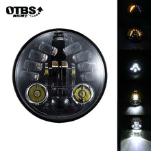 5.75 Inch Moto led Headlight Round Motorcycle headlamp for Harley 883 sportster, For Motor DRL Headlights LED 5 3/4 Headlamp 5 75 round headlamp 5 3 4 inch led headlight drl for harley dyna low rider sportster softail breakout sportster superlow