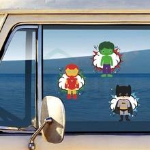 цены Aliauto Superheroes Reflective Car Sticker And Decal for Volkswagen Skoda Honda Hyundai Kia Lada Opel Peugeot Golf Kids Room