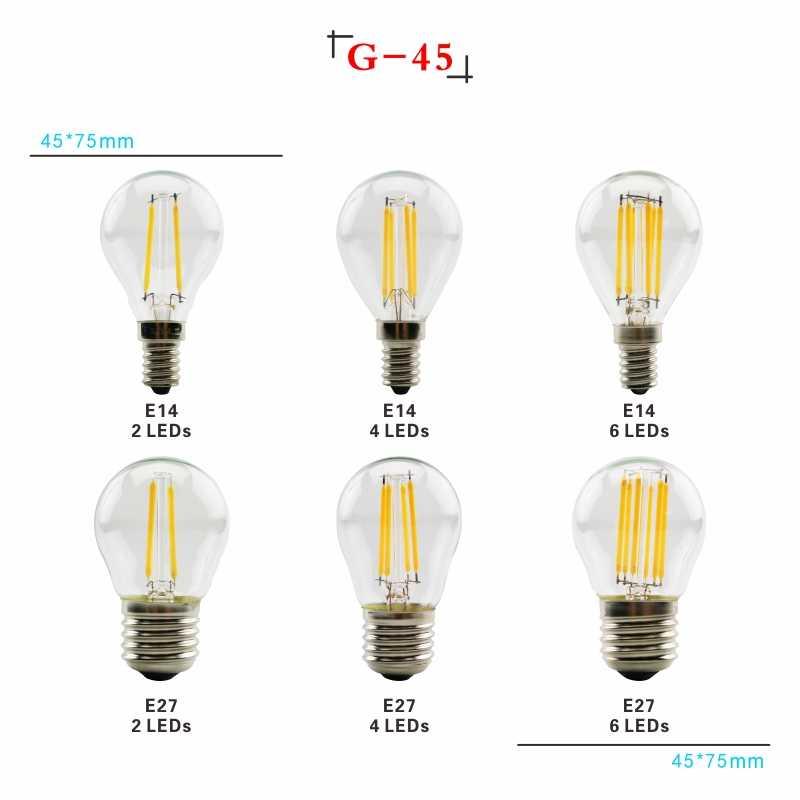 LARZI LED Filament ampoule E27 rétro Edison lampe 220V E14 Vintage bougie lumière Globe lustre éclairage COB décor à la maison lumière