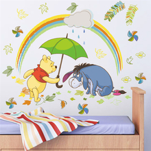 cartoon winnie pooh 40*60cm wall stickers bedroom home decorations disney animals zoo decals diy mural art posters