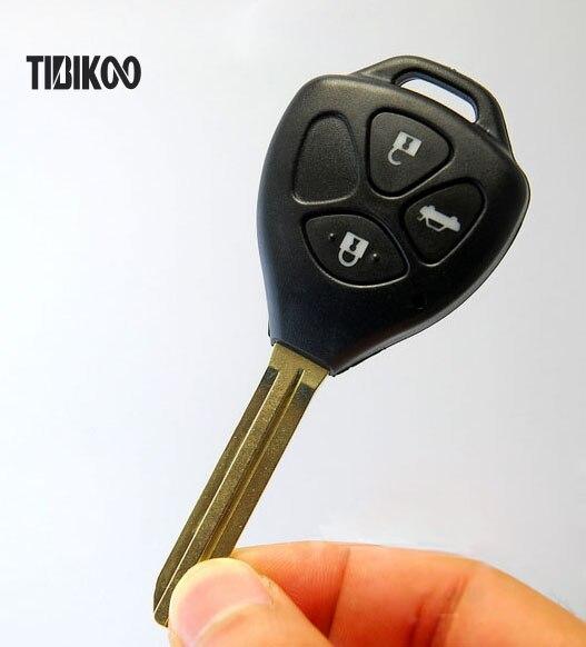 Замена ключа чехол для Toyota Camry/Reiz дистанционного Оболочки 3 Пуговицы 20 шт./лот