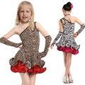 2016 Latin Girls Dance Dress For Girls Dancewear Samba Ballroom Dancing Ballet Performance Dresses Kids Costume Vestido Waltz