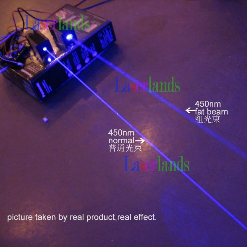 STAGE LIGHTING Show 350mW Blue Fat Beam 445nm 450nm Laser Diode Module 12V w/TTL new big beam fat beam 50mw 532nm green laser diode module laser stage lighting show focus