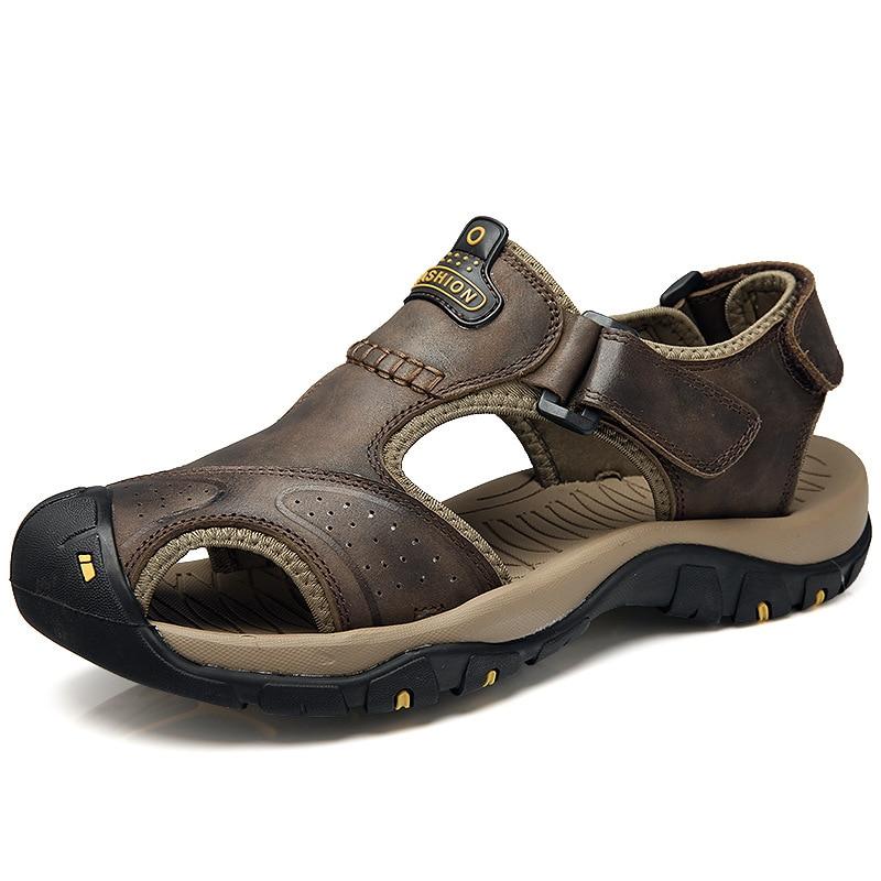 Viihahn sandalias para hombre de cuero genuino verano 2017 nuevos - Zapatos de hombre - foto 4