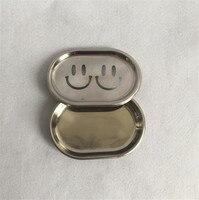 304 Stainless Steel Smile Bathroom Shelf Bathroom Soap Dish Soap Box Dishes Net Bathroom Soap Holder