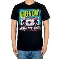 Free Shipping Green Day Kill The DJ Album Cover Men S Punk Rock Alternative Black T
