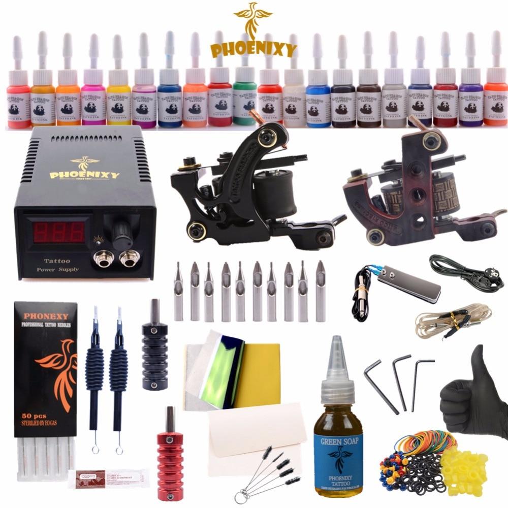 Professional Tattoo Kit Tattoo Machine Set 20 Colors Tattoo Ink Sets Set Tattoo Machine Permanent Make Up 35000r import permanent makeup machine best tattoo makeup eyebrow lips machine pen
