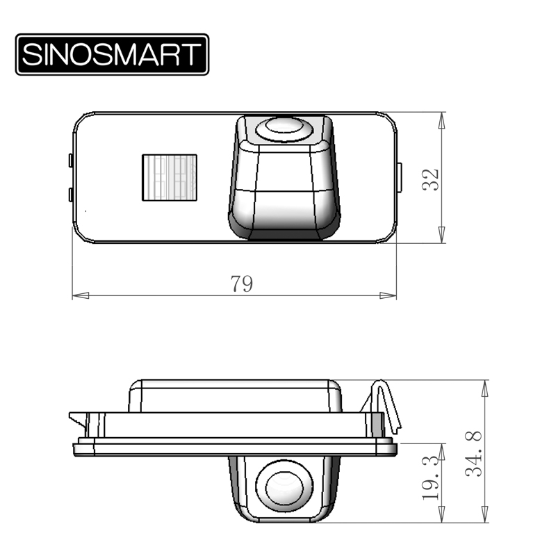 Sinosmart проводной HD автостоянка камера заднего вида для VW Bora CC крыло r-зажим линия фаэтон гольф и т. д. Ночного видения