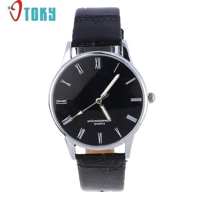 fe0a2134a95 Erkek kol saati Relógio Número Romano de Quartzo Eletrônico dos homens  projeto novo Relogios De Pulso