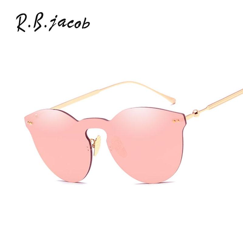 2017 Hot Sale Women Sunglasses Vintage High Quality Goggle Rimless Female Eyewear Fashion Style Sun Glasses For Men UV400 Newest