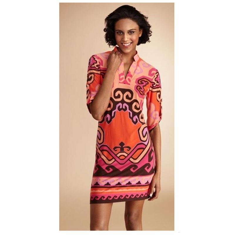 Gratuite Slim Soie Corail Féminine Z Manches Stretch Femmes Printemps Robe Livraison Chemise 1 De Rouge Mode Imprimé 26 Eq7Szw