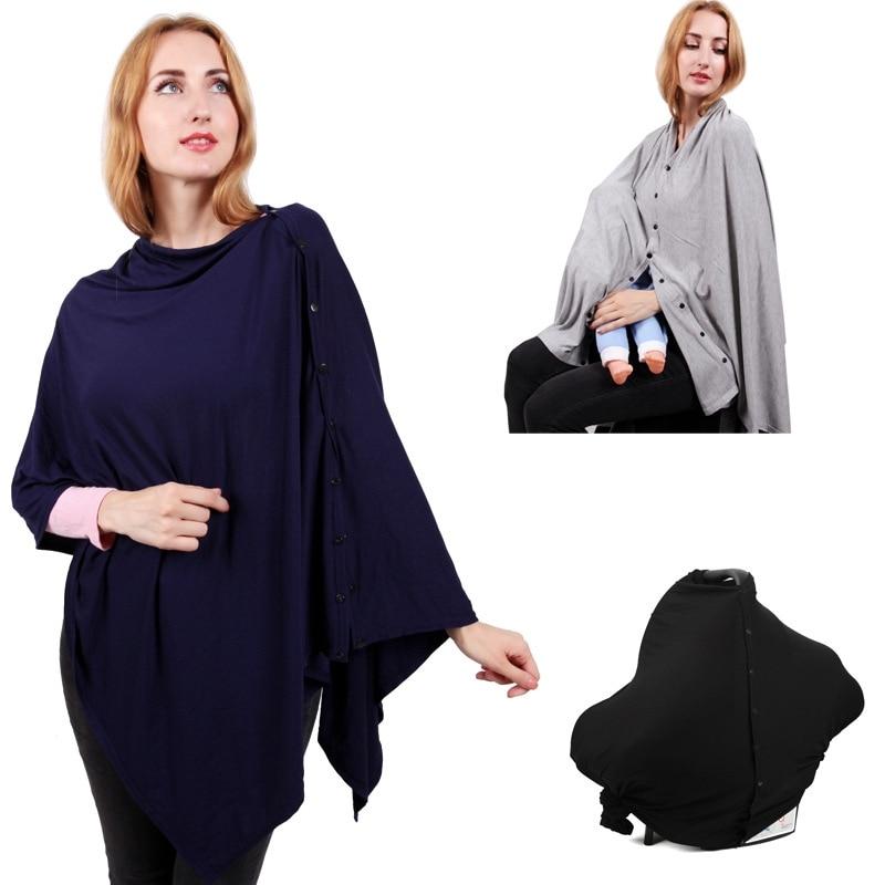 Breastfeeding Covers Infant Breathable Cotton Large Size Nursing Feeding Poncho Cloth Soft Blanket