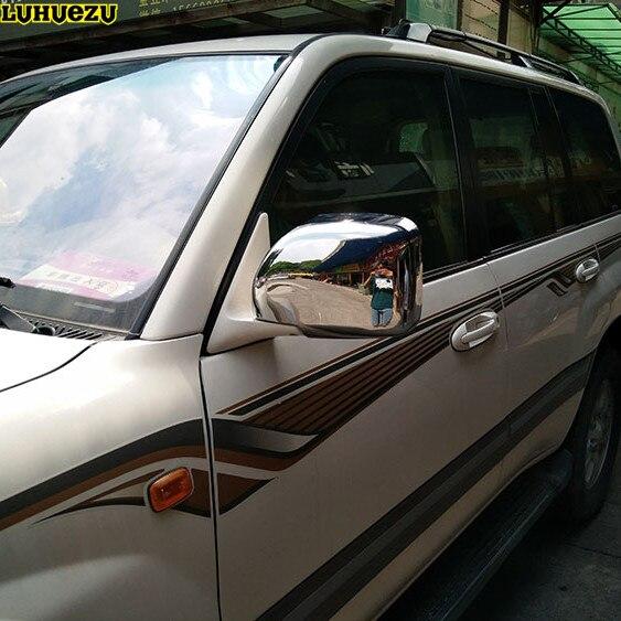 Luhuezu couvercle de miroir de porte chromé couvercle de lampe latérale pour Lexus LX470 98-07 Toyota Land Cruiser LC100 1998-2007 accessoires