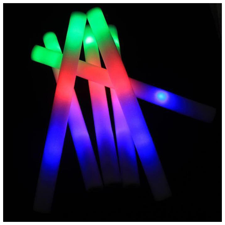 30 Pieces Colorful Shiny Sponge Sticks Luminous Baton LED Foam Stick Chopsticks Rally Party Flashing Glow Batons Light Stick