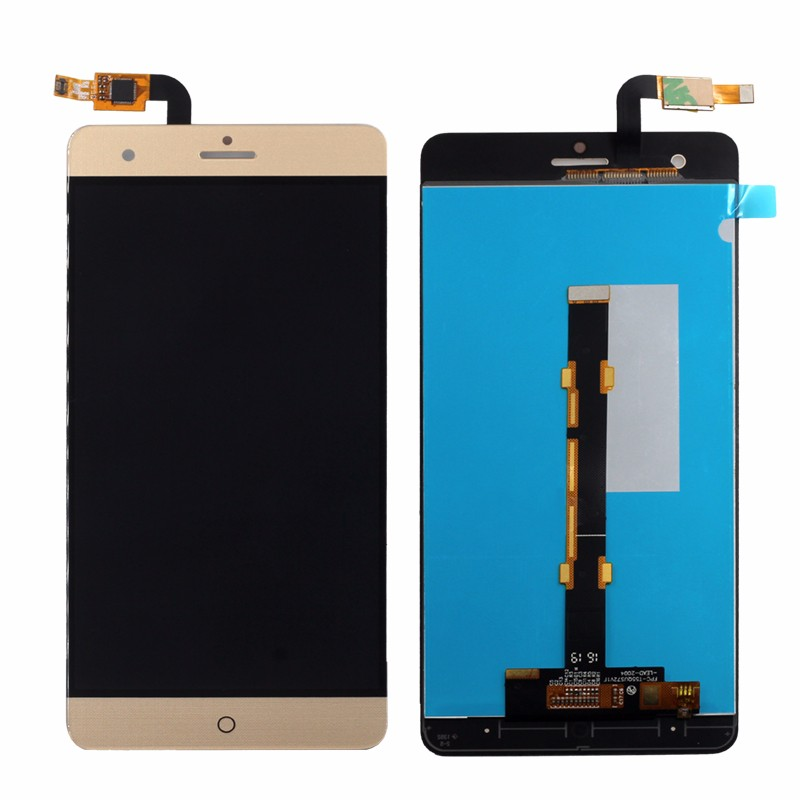 100% test For ZTE Blade V7 Max LCD Display + Touch Screen Digitizer Assembly Replacement Gold color