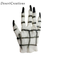 New Arrived Halloween Costumes Masquerade Party Supplies White Ghost Gloves Product Scary Party DIY Decoration