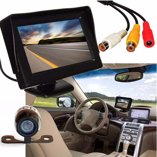 New Arrival 4.3 inch  TFT LCD Car Rear View Backup Monitor+Wireless Parking Night Vision Camera Ap12